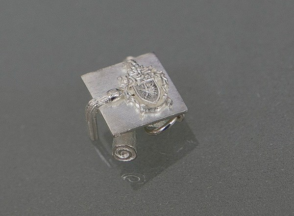 Charm Graduation with Silver Crest